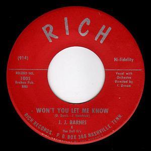 J.J. BARNES – Won't You Let Me Know