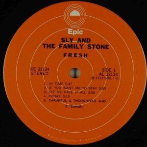Sly & The Family Stone Fresh  ORIGINAL US pressing