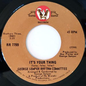 Georges Semper Rhythm Committee - It's Your Thing / Don' Be Afraid