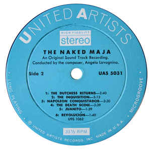 Angelo Lavagnino- The Naked Maja ( Music From The Motion Picture Sound Track)