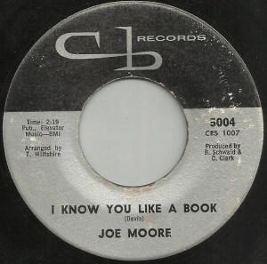 Joe Moore- I know You Like A Book
