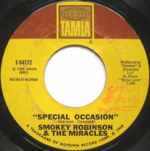 Smokey Robinson & The Miracles ‎– Special Occasion