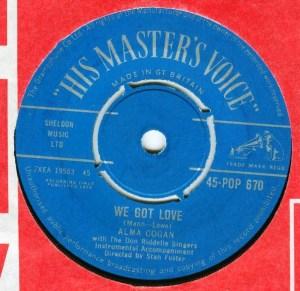 Alma Cogan- We Got Love