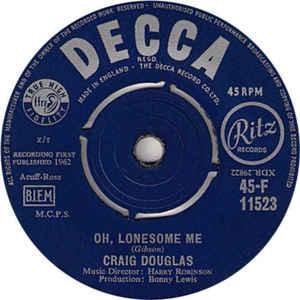 Craig Douglas- Oh, Lonesome Me