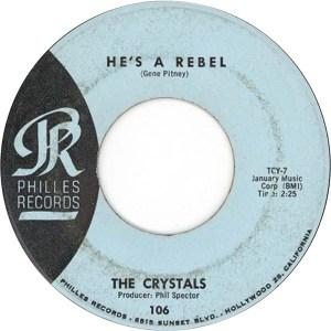 Crystals- He's A Rebel/ I Love You Eddie