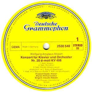 Friedrich Gulda , Wiener Philarmoniker. Vienna Philarmonic, Claudio Abbado- Mozart: Klavierkonzerte. Piano Concertos Nr 20 & 21