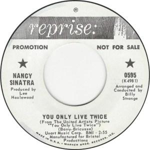 Nancy Sinatra- Nancy Sinatra & Lee Hazlewood- You Only Live Twice/ Jackson