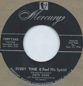 Patti Page- Mama From The Train/ Every Time (I Feel His Spirit)