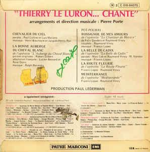 Thierry Le Luron- Thierry Le Luron ... Chante