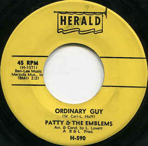 Patty & The Emblems- Mixed-Up, Shook-Up Girl/ Ordinary Guy