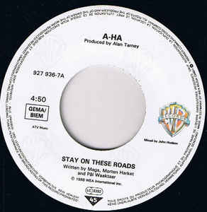 A-HA- Stay On These Roads