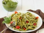 Pesto with linguine