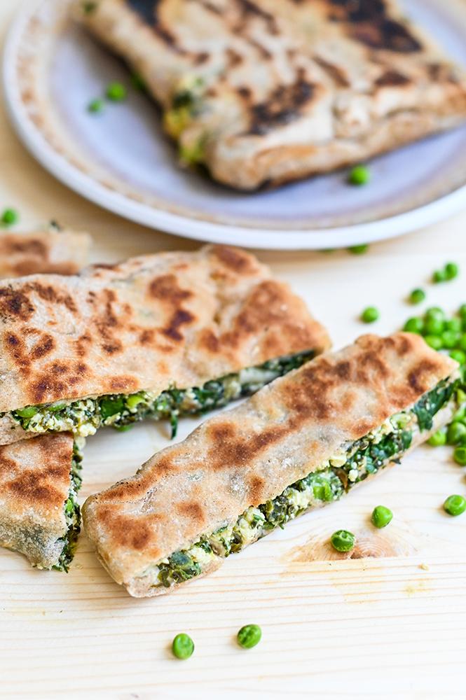 Gozleme vegane ( turte turcești), inspirate din bucătăria turcească