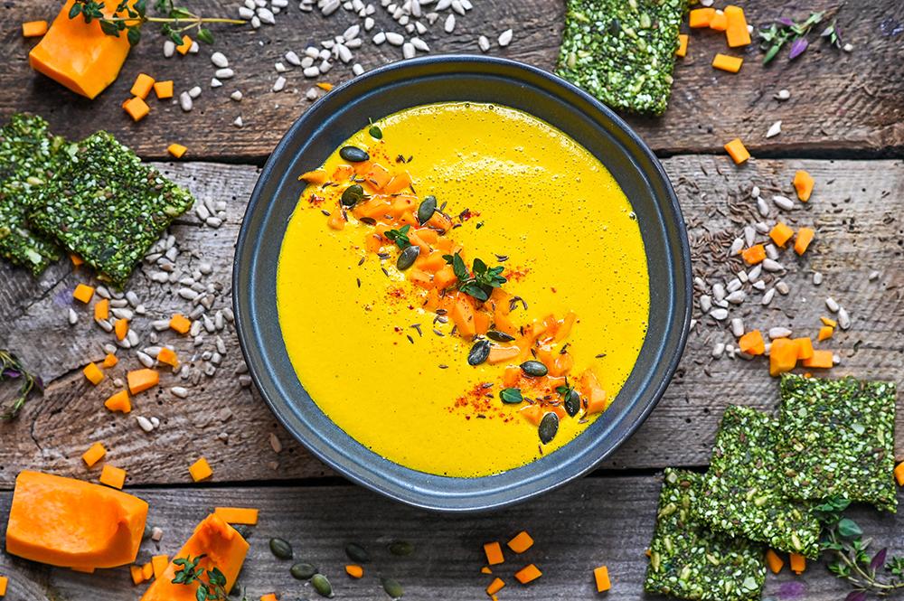 Supă raw de dovleac