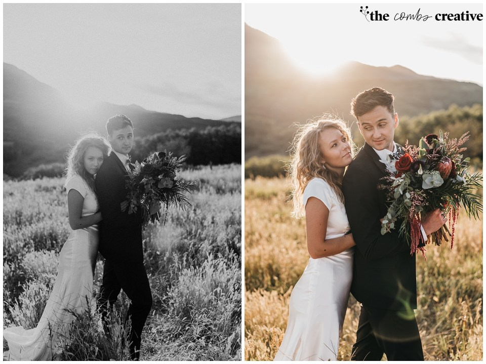 Sunset Wedding Photography in Utah