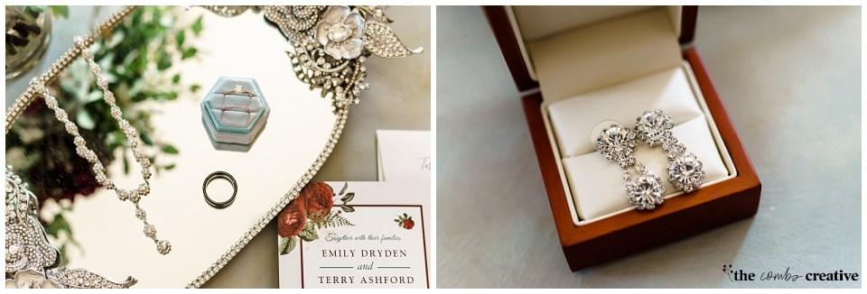 Wedding flat lay details | Wedding jewelry