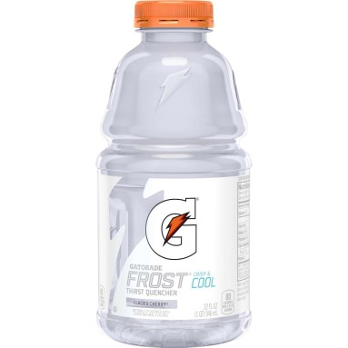 Frost Glacier Cherry Gatorade bottle