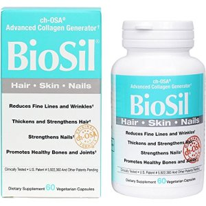 Box and bottle of BioSil protein capsules