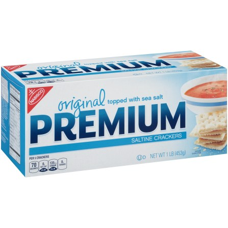 Bo of Nabisco's Original Premium Saltine Crackers
