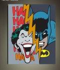 batman vs joker fan art