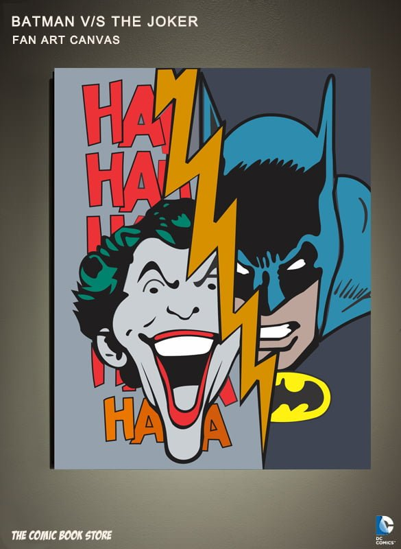 batman vs joker fan art