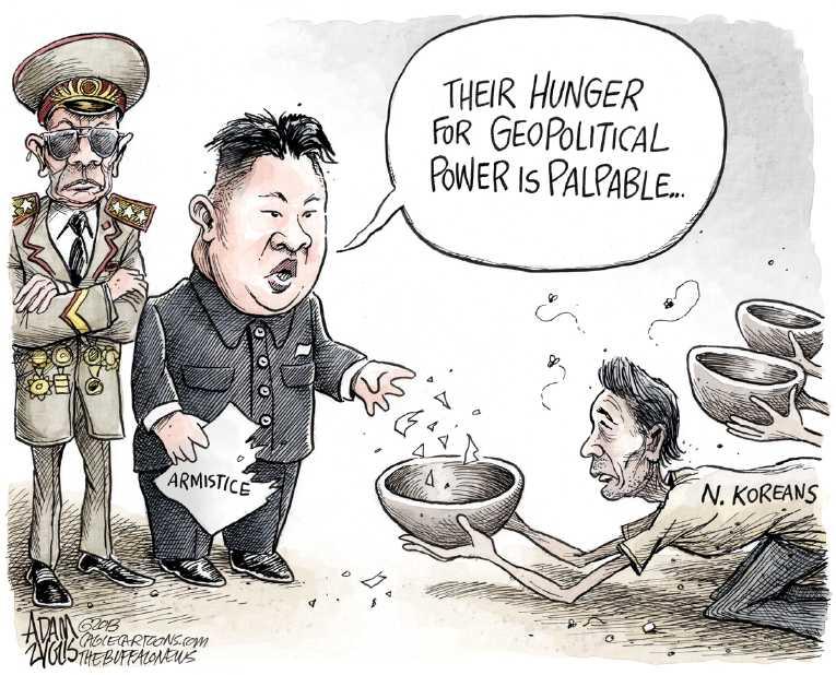 Korean War Editorial Cartoons