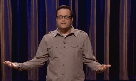 On Conan, Nate Bargatze sorts things out with his wife via text