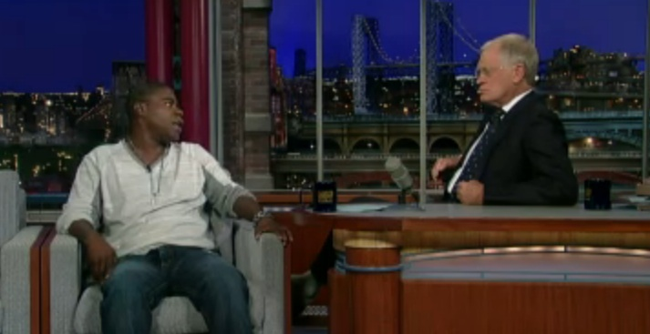 Tracy Morgan tries to explain his homophobic jokes to David Letterman
