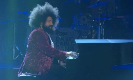 "Reggie Watts welcomes Conan back to NYC with ""The Boys are Back in Town"""