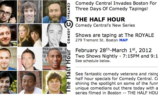 See who's taping The Half Hour stand-up specials for Comedy Central in 2012