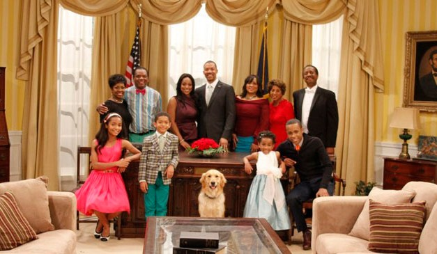 "Byron Allen reunites Marla Gibbs, Jackee Harry in new syndicated ""First Family"" sitcom"