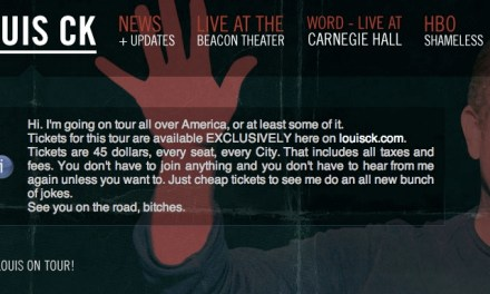 Louis CK talks selling his 2012 tour on his own terms, his own site