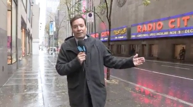 Late Night with Jimmy Fallon, the no-audience Hurricane Sandy edition