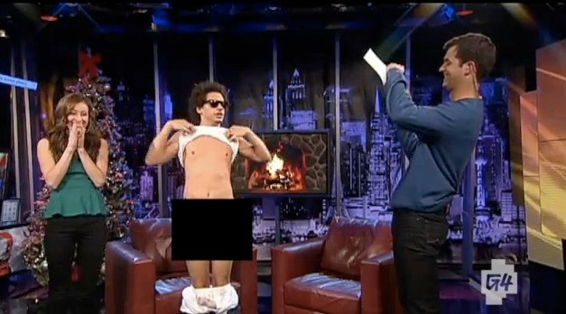 "Eric Andre, T.J. Miller nude it up on ""Attack of the Show"" finale month"
