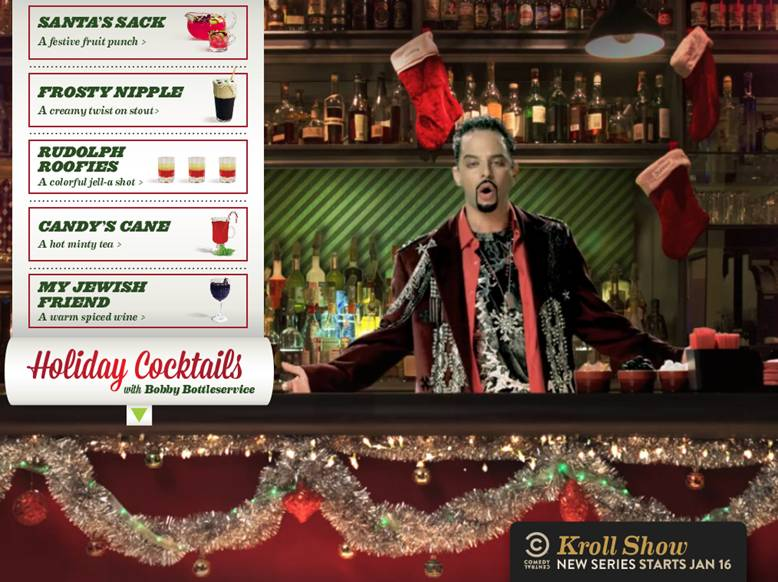 "From Nick Kroll's ""Kroll Show,"" Bobby Bottleservice makes you five festive holiday cocktails"