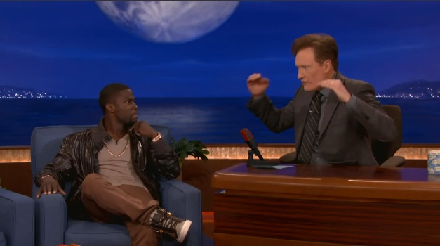 Kevin Hart tells Conan about adding fireworks and fire to his live stand-up shows