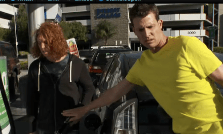 Daniel Tosh hangs out with Carrot Top doing everyday tasks