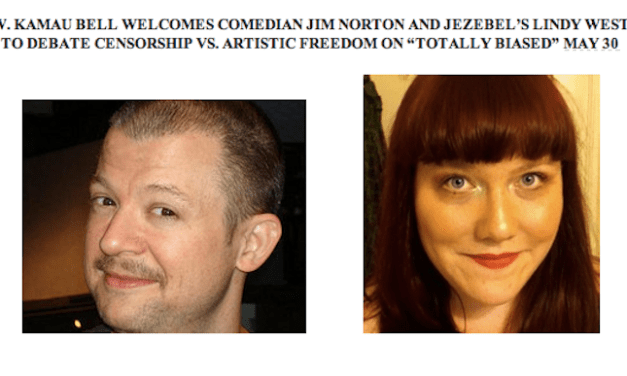 FX's Totally Biased with W. Kamau Bell to host comedy/feminism debate between Jim Norton, Lindy West