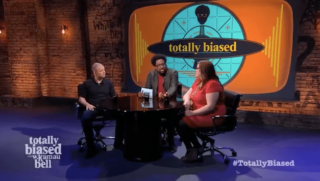 """Why does my vagina have to be your crutch?"" Lindy West debates Jim Norton on FX's Totally Biased with W. Kamau Bell"