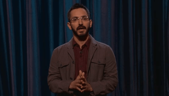 On Conan, Myq Kaplan ponders time travel