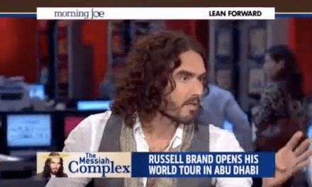 "Russell Brand becomes only person on MSNBC's ""Morning Joe"" doing his or her job"