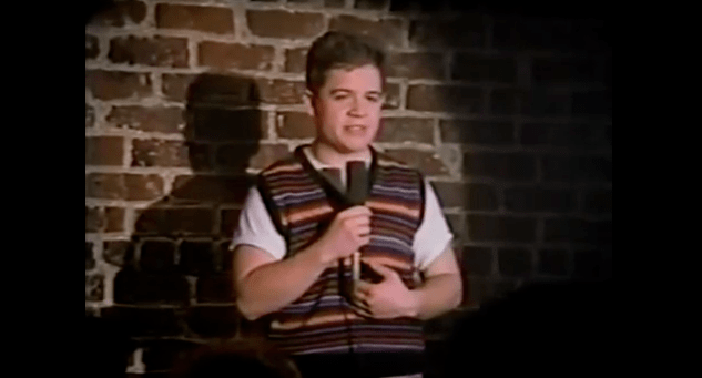 Patton Oswalt's first paid acting gig, at 19, in a college loan video