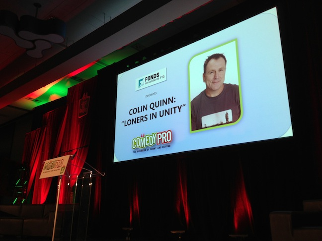 """Loners In Unity,"" Colin Quinn's Keynote Address at Montreal's Just For Laughs 2013"