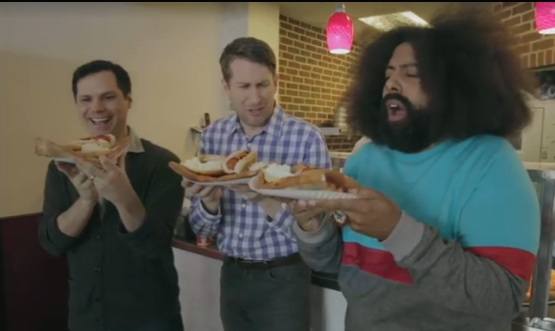 Pizza, bagels and hot dogs, oh my! Michael Ian Black's NYC food tour with Comedy Bang! Bang!'s Scott Aukerman and Reggie Watts