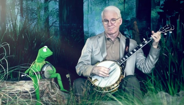 "Reunited: Steve Martin and Kermit the Frog in another round of ""Dueling Banjos"""