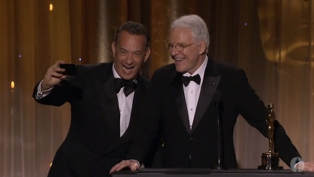 Steve Martin receives an honorary Oscar from the Academy Awards