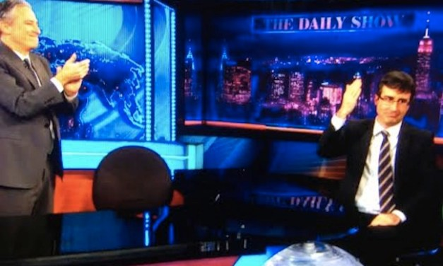 Jon Stewart's surprise farewell tribute brought John Oliver to tears on his final day at The Daily Show