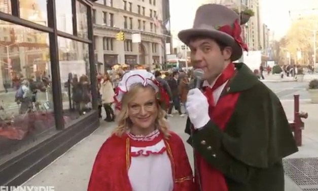 Amy Poehler joins Billy Eichner to chase down Christmas carolers for Billy On The Street