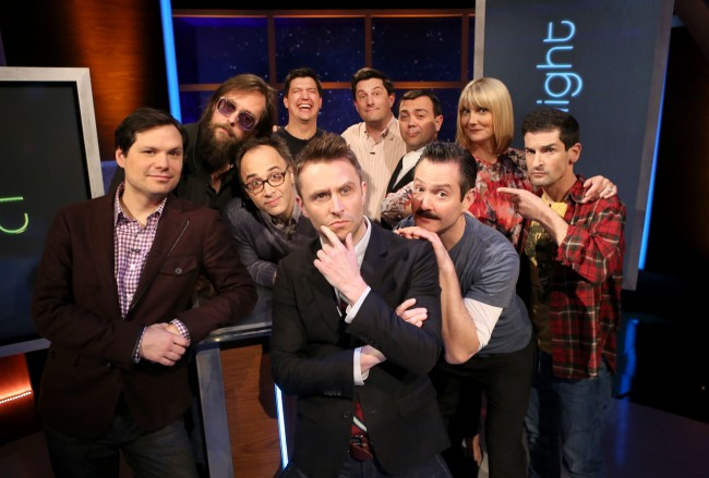 Most of the cast of The State reunited @midnight