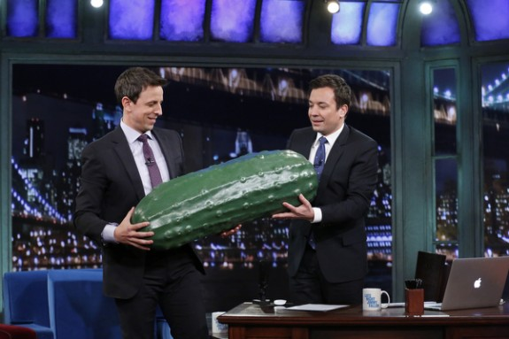 NBC's Late Night pickle gets passed on, from David Letterman, to Conan O'Brien, to Jimmy Fallon, and now to Seth Meyers